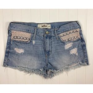 Hollister Festival Destroyed Denim Shorts Size 7
